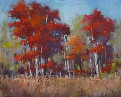 how to make a red tree glow with pastels