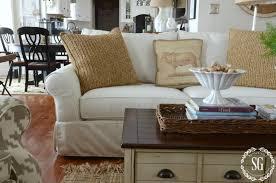 pottery barn sofa comfort slipcovered sofa stonegableblog com