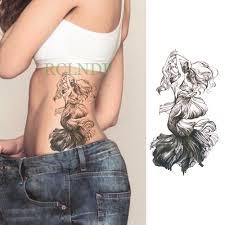 водонепроницаемый временная тату наклейка для принцессы русалочки с