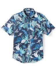 Reyn Spooner Size Chart Bangkok Floral Peacoat Cotton Mens Tailored Fit Hawaiian Shirt