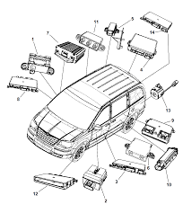 2008 chrysler town country modules diagram i2182487
