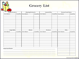 Free Printable Blank Grocery List Christmas Dinner Shopping List Template Printable Blank Grocery List