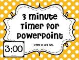 3 minute timer for powerpoint timer powerpoint teaching resources teachers pay teachers