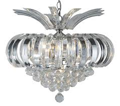 searchlight sigma 5 light ceiling light chrome finish with clear crystal prisms 30020cc