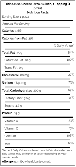 Monicals Pizza Monicals Nutritional Calculator