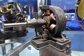 nikola tesla alternating current. an early prototype of ac motor by tesla. nikola tesla alternating current