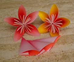 Folding Paper Flower Origami Paper Threads Of My Life Folding Paper Flower Pot Folding