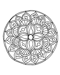Small Picture Coloring Pages Printable Mandala Abstract Colouring Pages For