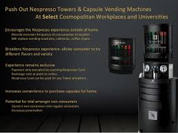 Coffee Capsules Vending Tower Machine Delectable Marketing Plan For Nespresso