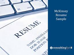 Consulting Resume Best McKinsey Resume Sample