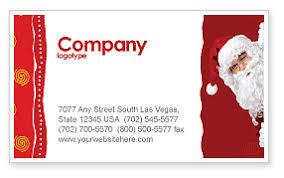 Santa Around The Corner Business Card Template Layout