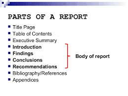 report writing introduction section parts of a report 3