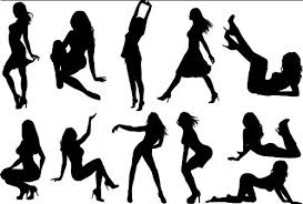 Amazon 商用okセクシーシルエット379種類以上のセクシーな女性の