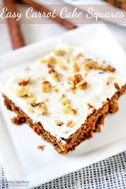Easy Carrot Cake Squares Domestic Superhero