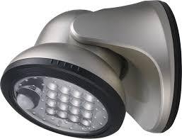 Fulcrum Led Porch Light Light It 16 Lights Silver Led Motion Porch Light Amazon In