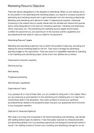 Objective Marketing Resume Free Resume Example And Writing Download