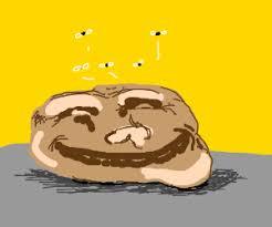 potato face troll. Plain Potato Trollface Potato For Potato Face Troll T