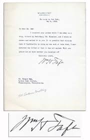 Lot Detail William Taft Typed Letter Signed Taft Forgets If