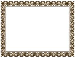 Frame Clipart Certificate - Pencil And In Color Frame Clipart ...