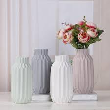 ceramic flower vase home decor simple luxury desk wedding vases folding paper surface pots whitegreypink 15cm 41 flowers for simple flower vase m43