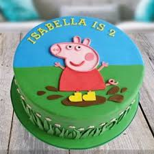 Peppa Pig Fondant Cake Home Delivery Indiagift