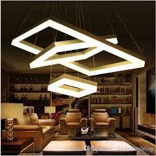 modern led pendant lights for dining room living room rectangle acrylic led pendant lamp fixture lamparas modernas led square pendant light