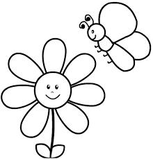 Disegno Di Fiore E Ape Da Stampare Gratis E Colorare Per Bambini