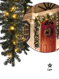 Lighted Decorated Garland Details About 40 Led Prelit Garland 2 7m 9ft Warm White Christmas Decoration Pine Fir Outdoor