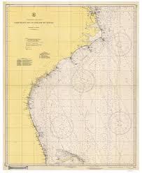 Chesapeake Bay Maps Charts Chesapeake Bay To Straits Of Florida 1942 Old Map Nautical Chart 1 1 207 256 Sc Reprint 1001