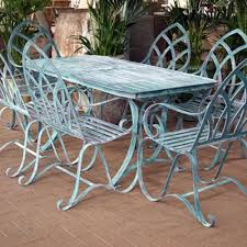 outdoor metal table set. Wrought Iron Round Kitchen Table And Chairs New Outdoor Metal Set Carlo 4 Seater M