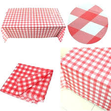 disposable checd tablecloths
