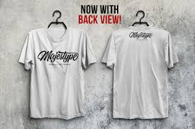 By simply pasting your graphic into the smart object layer, photoshop will. Front And Back T Shirt Mockup Psd Free Download Free Mockups Psd Template Design Assets