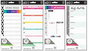 budget plan sheet amazon com happy planner classic planner half sheets meal