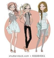 Cartoon Girl Images, Stock Photos & Vectors | Shutterstock