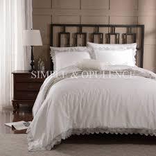 100% cotton 400TC luxury Duvet Cover Set royal embroidered bedding ... & 100% cotton 400TC luxury Duvet Cover Set royal embroidered bedding with  wedding lace including white Adamdwight.com