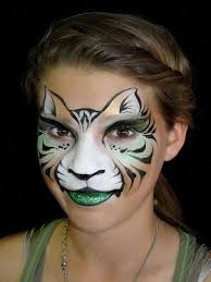 face paint makeup simple cat for kids idea