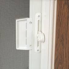 sliding patio doors white screen locking mechanism