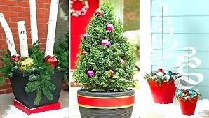 outdoor holiday planters ideas urns outdoors planter contemporary best on with regard to 3 idea winter