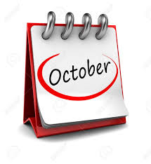 October Calendar Word 3d Calendar With Word October Isolated On White Background Stock
