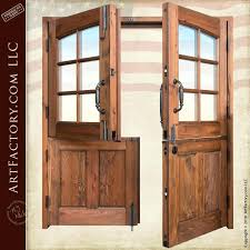 Dutch Front Door Colonial Solid Wood Double Dutch Entry Doors Split
