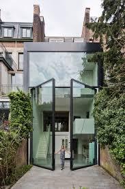 large glass pivot doors
