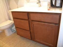 How To Restain Bathroom Cabinets