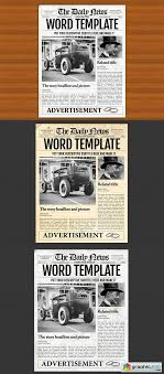 Microsoft Newspaper Template Free Microsoft Word Newspaper Template Free Download Vector