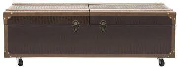 safavieh zoe brown coffee table storage