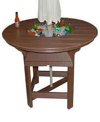 poly round party bar table