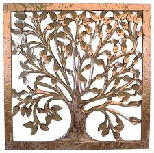 wood carved tree wall art