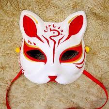 japanese for mask upper half face japanese hand painted fox masks kitsune cosplay