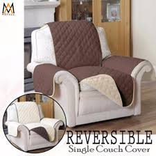 couch coat reversible sofa cover single seat