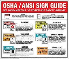 Osha Chart Osha Ansi Training Wall Chart Amazon Com Industrial