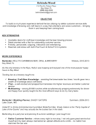 Bartender Resume Sample Resume Templates